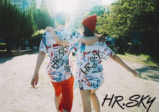HRSKY 総柄Tシャツ 日本製Tシャツ 関西コレクション